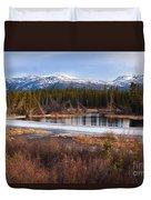 Yukon Taiga Wetland Marsh Spring Thaw Canada Duvet Cover