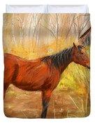 Yuma- Stunning Horse In Autumn Duvet Cover