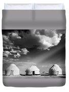 Yurts Duvet Cover