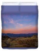 Zabriskie Point Sunrise Duvet Cover