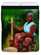 Zambia Woman Duvet Cover