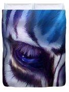 Zebra Blue Duvet Cover