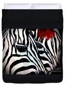 Zebra Couple Duvet Cover