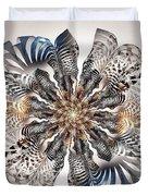 Zebra Flower Duvet Cover