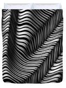 Zebra Folds Duvet Cover