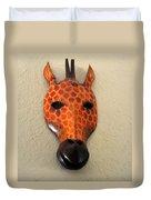 Zebra Head Mask Duvet Cover