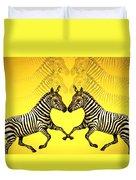 Zebra Heart Duvet Cover