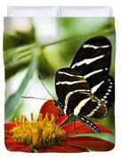 Zebra Longwing 2 Duvet Cover
