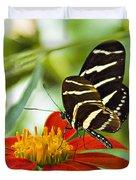 Zebra Longwing Duvet Cover
