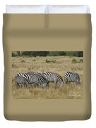 Zebra On Masai Mara Plains Duvet Cover