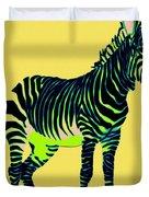 Zebra Pop Art Duvet Cover