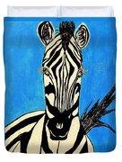Zebra Portrait 5 Duvet Cover