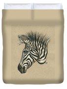 Zebra Profile Duvet Cover