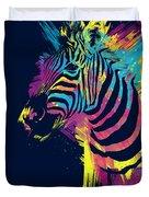 Zebra Splatters Duvet Cover