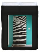 Zebra Stripe Mural - Door Number 2 Duvet Cover