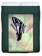 Zebra Swallowtail Butterfly By George Wood Duvet Cover