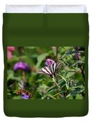 Zebra Swallowtail Butterfly In Garden Duvet Cover