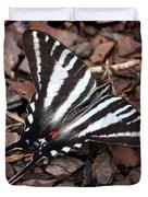 Zebra Swallowtail Butterfly Duvet Cover