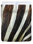 Zebra Texture Duvet Cover by Ayse Deniz