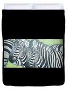 Zebra Triptych General Duvet Cover