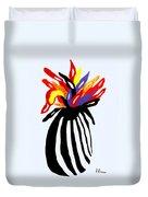 Zebra Vase Duvet Cover