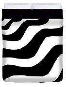 Zebra Waves Duvet Cover