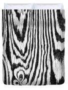 Zebras In Wood Duvet Cover