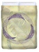 Zen Feather Circle I I I Duvet Cover