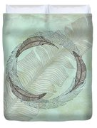 Zen Feather Circle I I Duvet Cover