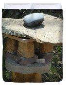Zen Rocks In Balance Duvet Cover