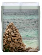 Zen Rocks In Paradise Duvet Cover