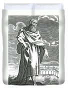 Zeno Of Citium, Ancient Greek Duvet Cover