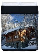 Zermatt Chalet Duvet Cover