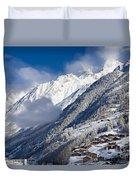 Zermatt Mountains Duvet Cover by Brian Jannsen