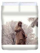 Ziba King Memorial Statue Front View Florida Usa Near Infrared Se Duvet Cover