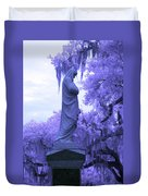 Ziba King Memorial Statue Side View Florida Usa Near Infrared Duvet Cover