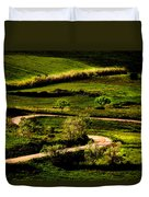 Zigzags Of A Path Duvet Cover