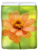 Zinnia On A Brilliant Spring Day Duvet Cover