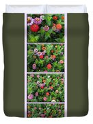 Zinnias 4 Panel Vertical Composite Duvet Cover