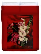 Zinnias And Gladiolas Duvet Cover