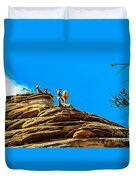 Zion Bighorn Sheep Duvet Cover