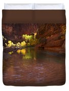 Zion Canyon Of The Virgin River Duvet Cover