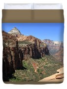 Zion Canyon Overlook Duvet Cover
