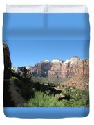 Zion Canyon View Duvet Cover