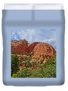 Zion National Park In Summer Duvet Cover