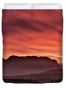 Zion National Park Panoramic Duvet Cover