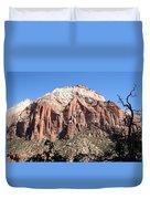 Zion Park Mountainscape Duvet Cover
