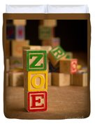 Zoe - Alphabet Blocks Duvet Cover