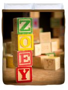 Zoey - Alphabet Blocks Duvet Cover