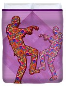 Zombie Funny Comic Cartoons Dance Zombie Dance Grand   36x12 Horizontal Landscape Energy Graphics Ba Duvet Cover